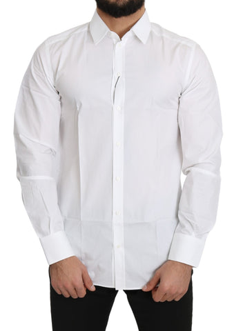 White Solid  Cotton GOLD Top Shirt