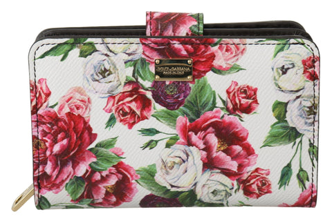 Multicolor Leather Floral Card Coin Bill Clutch  Wallet