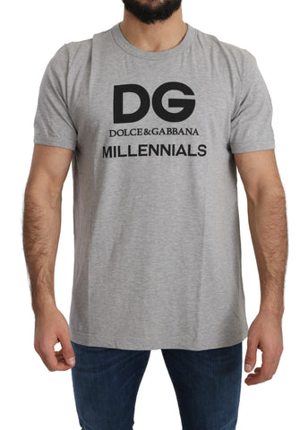 Gray Millennials 100% Cotton Top T-Shirt