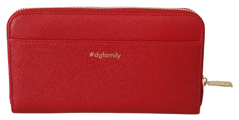 Red #dgfamily Continental Clutch Women Leather Wallet