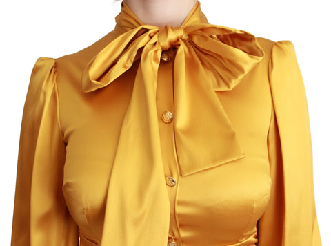 Yellow Silk Stretch Sheath Bodycon Mini Dress