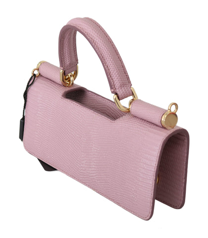 Pink Leather Push Button Accessory Micro Bag