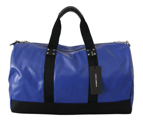 Blue Shoulder Sling Travel Luggage Cotton Bag