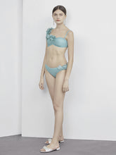 Load image into Gallery viewer, Mint 3D Flower Bikini
