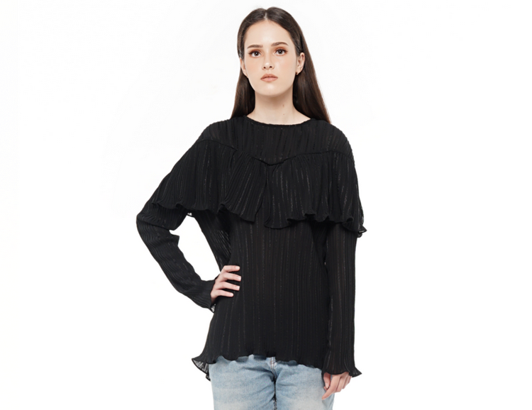 Accordion Pleated Top