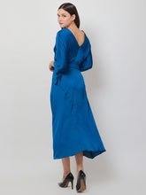 Load image into Gallery viewer, Acid Blue Silk Long Dress