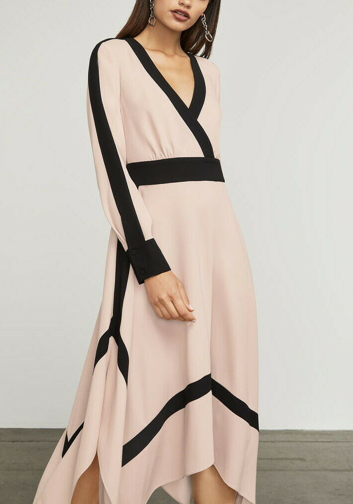 Bambi Color-Blocked Wrap Dress