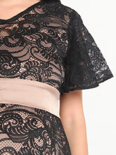 Load image into Gallery viewer, Black Lace Maternity & Nursing Cocktail Dress