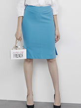Load image into Gallery viewer, Blue Pencil Skirt