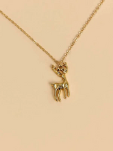 Load image into Gallery viewer, Christmas Elk Charm Necklace