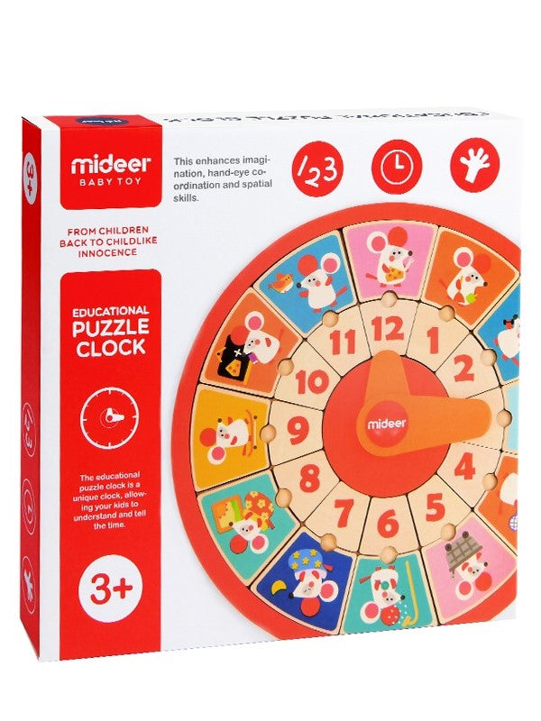 Educational Puzzle Clock Early Education