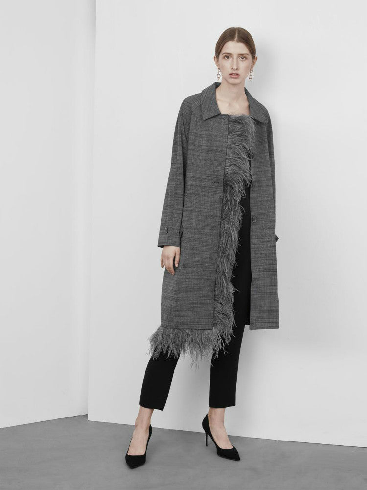 Feather Long Grey Outer