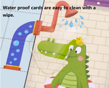Load image into Gallery viewer, Help Little Crocodile! Wooden Connect The Pipes Puzzle
