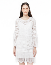 Load image into Gallery viewer, Lace Bell Sleeve Dress