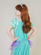 Load image into Gallery viewer, Little Mermaid Costume Green with Ribbon