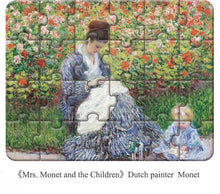 Load image into Gallery viewer, MRS. MONET and THE CHILDREN | World Famous Classic Painting Puzzle