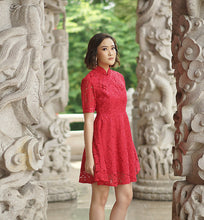 Load image into Gallery viewer, Red Petite Qipao / Cheongsam