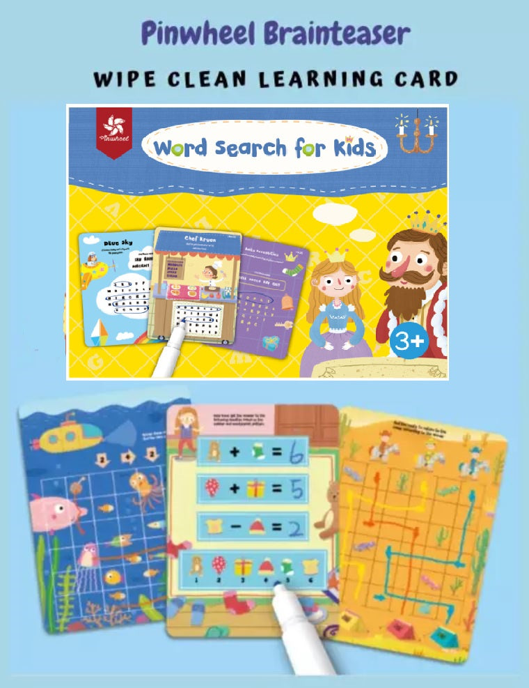 Wipe&Clean Learning Cards - Word Search For Kids