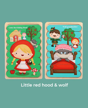 Load image into Gallery viewer, Wooden Puzzle - Little Red Hood&Wolf