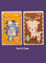 Load image into Gallery viewer, Wooden Puzzle - Owl&Deer