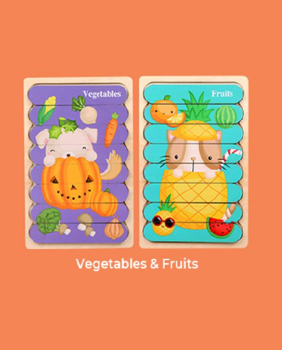 Wooden Puzzle - Vegetables&Fruits