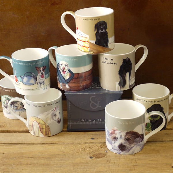 Group of little dog laughed mugs