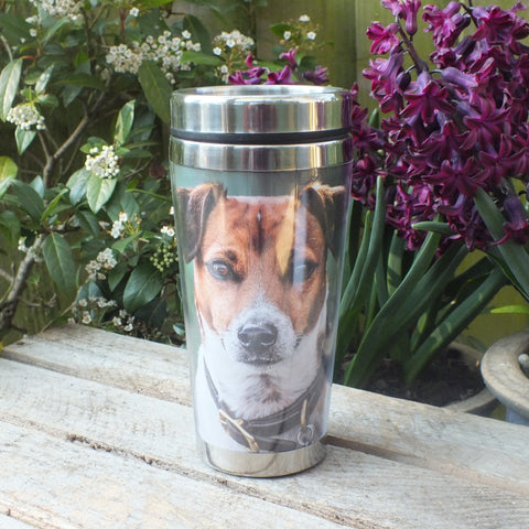 thermal mug picturing jack russell