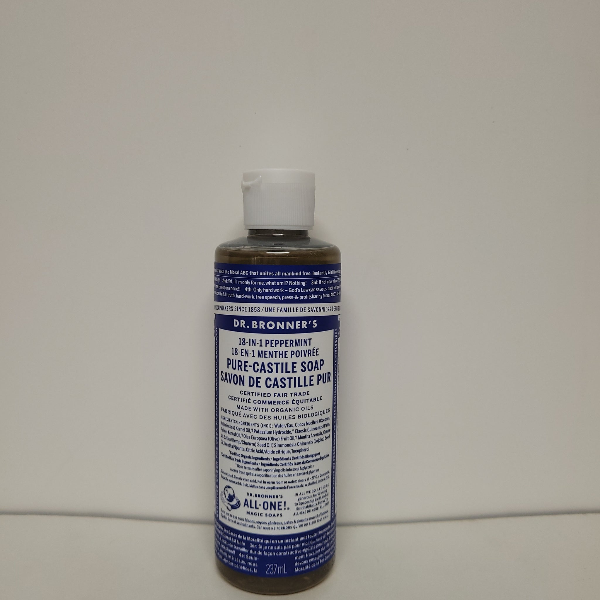 Dr. Bronner's 18 in 1 Peppermint Pure Castile Soap