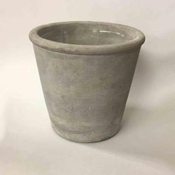 "4"" Grey Cement Pot"