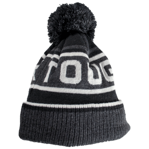 Tough Duck Gray/White Pom Toque