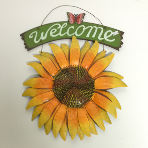 Metal and Wood Welcome Sign
