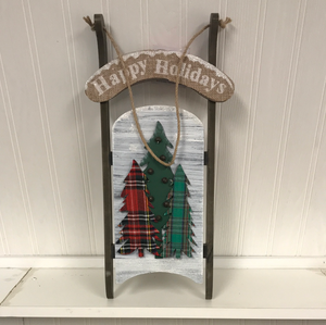 Hanging Happy Holidays Sleigh