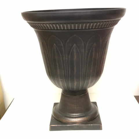 "16"" Dia x 19""H Plastic Bronze Colored Urn"