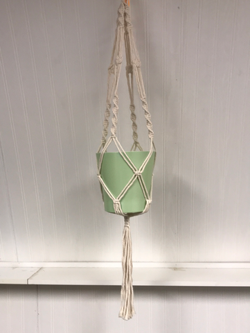 Plain Macramé hanger, (pot not included)