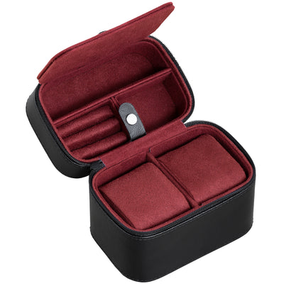 Rothwell 2 Watch Travel Case (Black / Red)