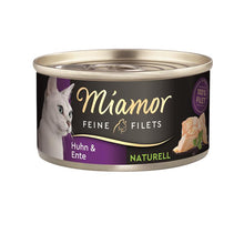 Lade das Bild in den Galerie-Viewer, Miamor Feine Filets Naturell Huhn & Ente 80g/ 24 Dosen (Murphy getestet)