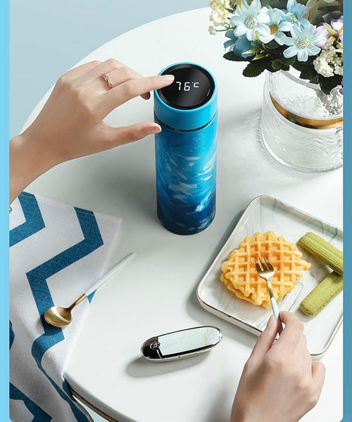 Thermos Cup Temperature Display - health and eat