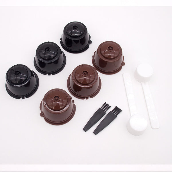 Cup Reusable Coffee Capsule Filters For Nespresso With Spoon Brush