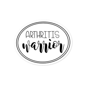 Arthritis Warrior sticker, white