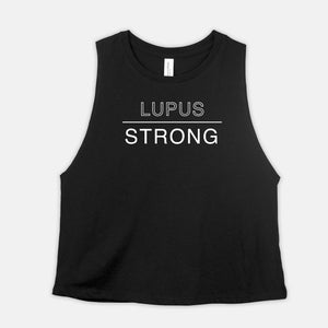 Lupus Strong, Racerback Cropped Tank