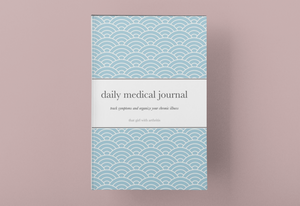 Daily Medical Journal, Light Blue Cover, 6 month tracker