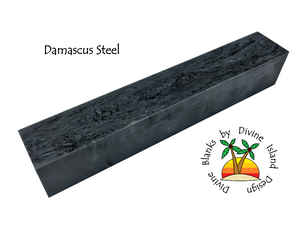 "Damascus Steel - 7/8"" x 7/8"" x 5"""