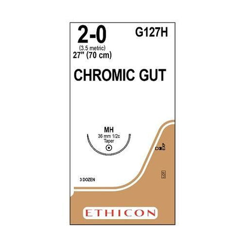 Chromic Gut Suture 2/0 MH 70cm - Box (36) ETHICON