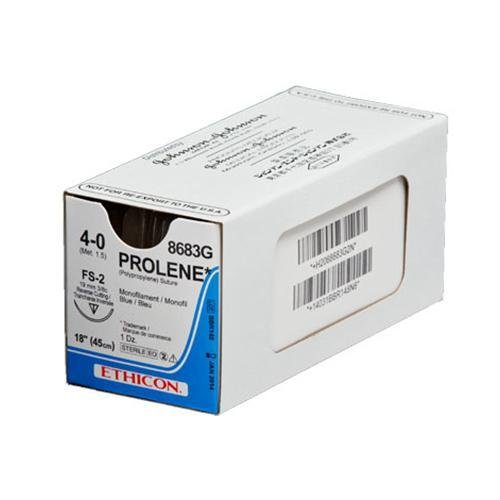 Prolene 5/0 Suture Blue 75cm 17mm RB-1 T/P - Box (36) ETHICON