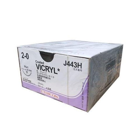 Vicryl 2/0 Suture Undyed 70cm 24mm FS-1 R/C - Box (36) ETHICON