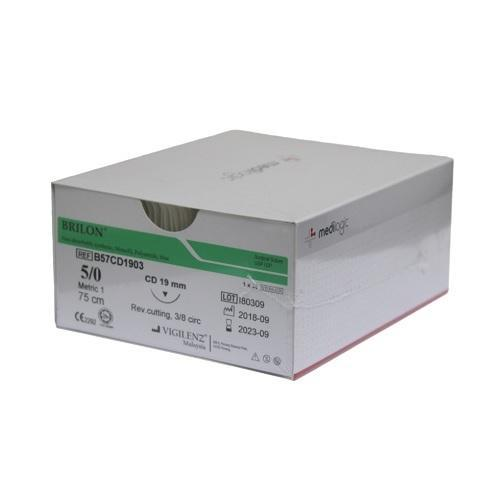 Vigilenz Brilon 5-0 13mm Primecut PD Black 45cm Sutures - Box (36) VIGILENZ