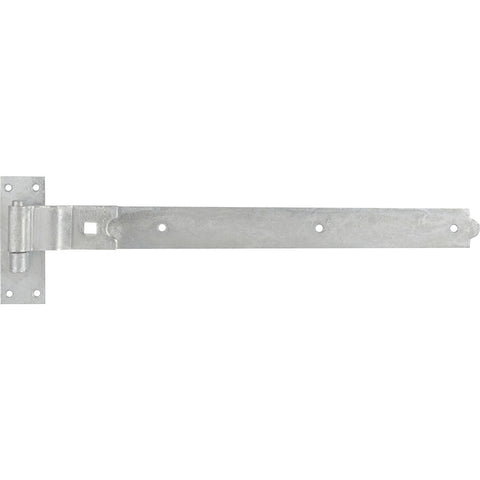 "GATEMATE Cranked Band & Hook on Plate 24"" (600mm) Galvanised"