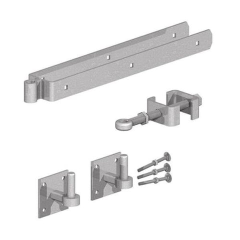 FIELD GATE HINGE Set Adjustable 5 Bar Gate Band GALVANISED STEEL on 4×4 plate