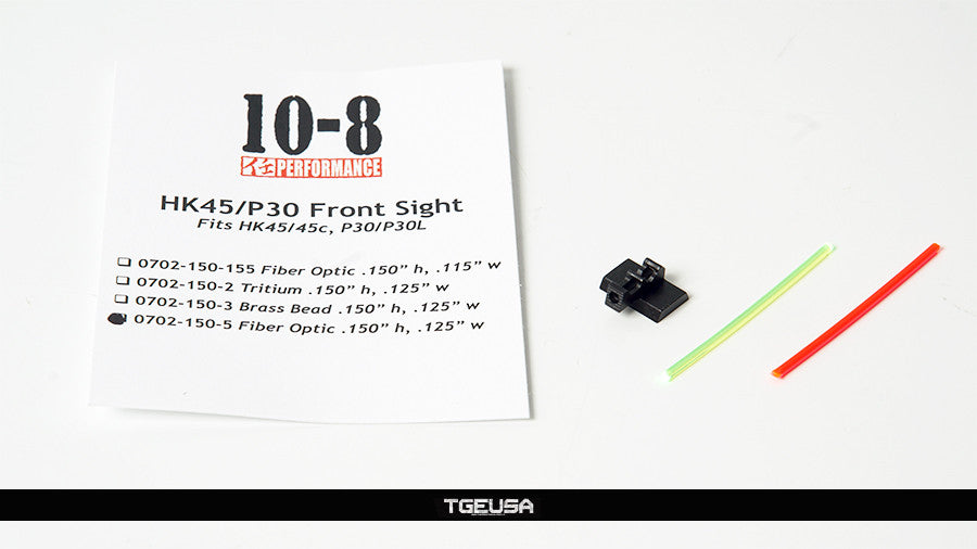"10-8 Performance HK Fiber Optic Front Sight - .125"" wide"