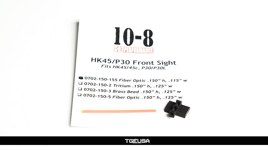 "10-8 Performance HK Fiber Optic Front Sight - .115"" wide"